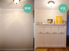 I would have never thought to do this behind the front door! @ Do it Yourself Home Ideas