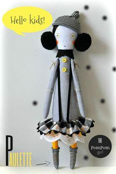 paulette | handmade by maria madeira (a little bit a strange doll)