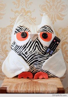 Owl Remote Control Holder