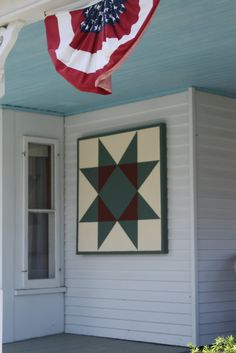 Barn Quilt...on house  custombarnquilts@gmail.com