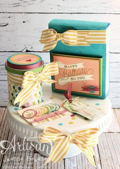 Another Great Year Birthday cake ensemble - Jeanna Bohanon Stampin' Up! Artisan Design Team