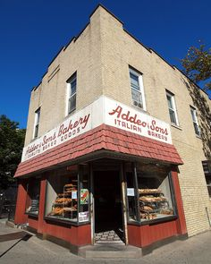 Addeo & Sons Italian Bakery, Little Italy, Bronx, New York City, via Flickr.