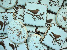 Sugarbelle's robin eggs cookies