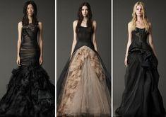 vera wang, wedding dressses, black weddings, dream, gothic wedding, the dress, gown, black wedding dresses, vintage inspired