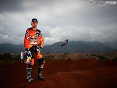 Ryan Dungey rockin' the ktm orange for the next SX season...gotta love the Ryans!