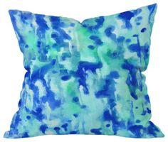 #art #abstract #watercolor #pillow #throwpillow #homedecor #houzz.com #denydesigns