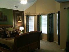 Brown & Green Bedroom