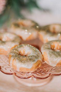 Edible glitter donuts