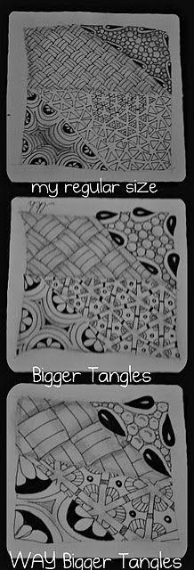 making zentangles bigger