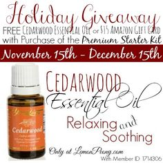 Holiday Giveaway | FREE Essential Oil or Amazon Gift Card!