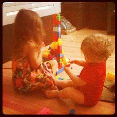 The kiddos playing with mega blocks!!! - @foxymama923- #webstagram