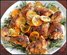 Post image for Easy Chicken Recipes – Herb and Citrus Oven Roasted Chicken Parts Recipe
