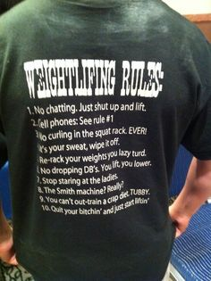 Weightlifting rules.