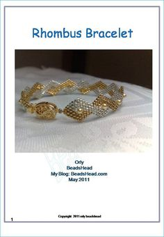 This step-by-step tutorial will teach you how to weave this delicate rhombus bracelet with small pearls and filigree clasp. You can purchase it from my Etsy shop: BeadsHead.etsy.com for 6 $ and have the free brick stitch tutorial as a bonus.