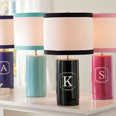 Adore the personalized lamps!