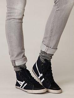 Gola high tops, like the socks also
