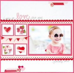 Valentines Scrapbook Page