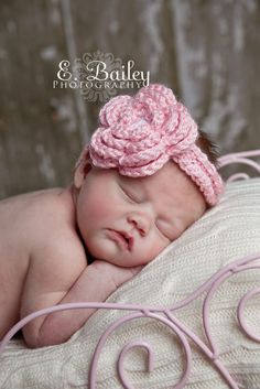 Crochet Baby Flower Headband