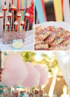 Sprinkles themed birthday party!