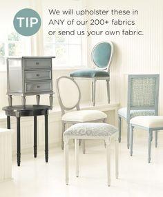 Custom upholstery by Ballard Designs