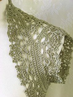 Soft green crochet shrug/vest by BernioliesDesigns, via Flickr - clever double sided working to shape armhole/sleeve