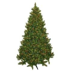General Foam Plastics Evergreen Fir Prelit Christmas Tree with 700 Multicolored Lights