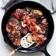 dinner, pork tenderloin, apple recipes, saute appl, sauté appl