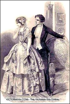 Popular fashions of the Victorian Age.