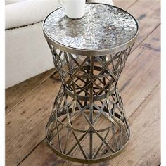 Regina Andrew Woven Brass Side Table @Patricia Taylor Door #zincdoor #furniture