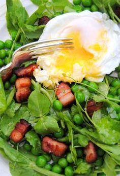 Pea shoot salad.