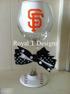 San Francisco Giants Baseball Wine Glass $12