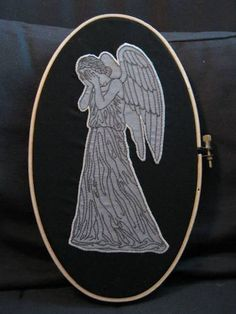 Doctor Who embroidery.