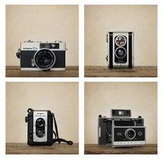 Vintage cameras from Etsy