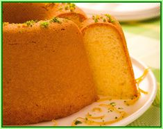 Diet Yogurt Cake with Lemon (recipe in portuguese)
