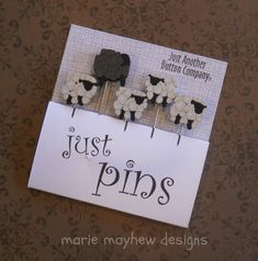 SHEEP PINS.