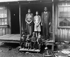 Coal miner, Desmond Hairston and family (Longacre, West Virginia) (1943) by Penn State Special Collections Library via Flickr