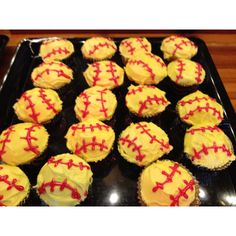 Cupcakes for Macee's softball banquet.