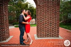 Engagement photo of Double Del couple, Sarah and Scott, taken by UD alum Rebecca Hussey who owns Ampersander Studios. She offers a 10% discount to all UD alumni.