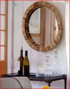 wine cork mirror