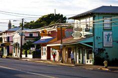 Paia, Maui. Lots of shops and food on the north side Maui. http://www.alohalatitudes.com