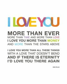 I #love you. #quotes