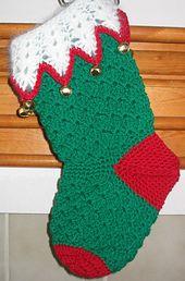 Christmas Stocking  Crochet Patterns Christmas