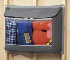 garage storage for camping equipment #organization #declutter, #garage, #storage