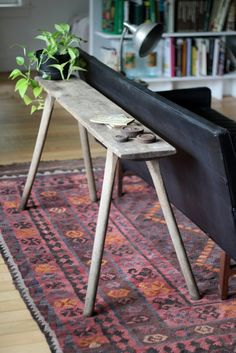 the farmhouse table and rug