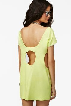 Odyssey Dress in Lime