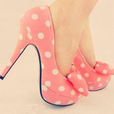 Pastel polka dot heels