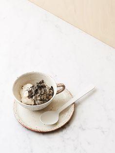 Tasty Tuesday · Lychee Chia Sorbet and Black Sesame Avocado Ice Cream | The Design Files