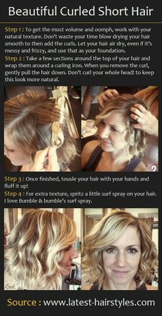 Beautiful Curled Short Hair---Aunt Ruth needs to do this!