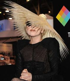 Hat? Hair?  I cool new meaning for hat hair.  #ladygaga