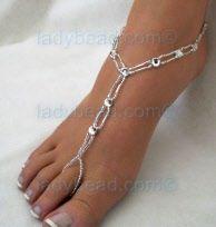 #rhinestone #barefoot #jewelry #beach #bride